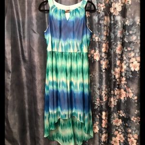 Studio One New York Blue&Green High Low Dr…